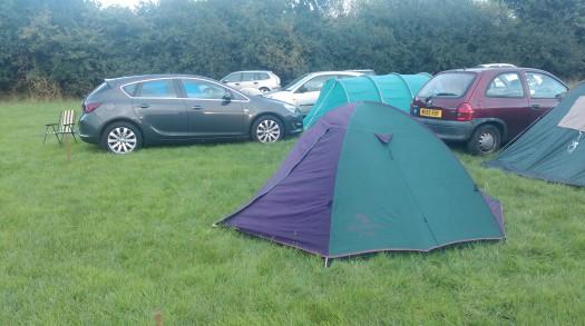 Perks of the job - free camping!