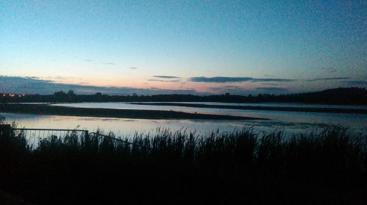 The view before bed at Rutland Nature Reserve